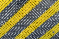 Målarfärg för golvplatta med den gula linjen hög upplösning Royaltyfria Foton