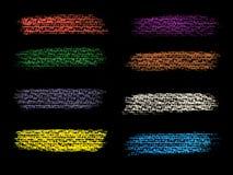 Målarfärg för Grungebanerbakgrunder stock illustrationer
