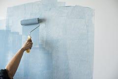 Målarfärg för inre renovering för rum inomhus royaltyfria bilder