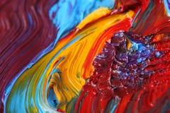 målarfärg för olja för konstdetalj blandad Arkivbild