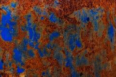 Målarfärg för texturrostblått Arkivbilder