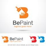 Målarfärg Logo Template Design Vector för bokstav B Royaltyfria Bilder
