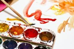 Målarfärg och teckning fotografering för bildbyråer