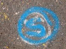 Målarfärg på vägmärkegatan Fotografering för Bildbyråer