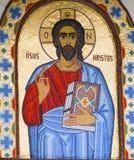 Målarfärg som föreställer Jesus Christ. Royaltyfri Bild
