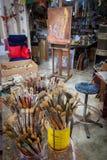 Målarfärgborstar - sikter runt om Curacao den karibiska ön Royaltyfria Bilder