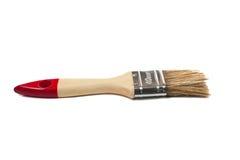 Målarfärgborste med ett trähandtag Royaltyfri Foto