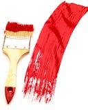 Målarfärgborste med färgdroppar. Royaltyfri Foto