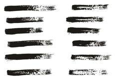 Målarfärgborsten som tunna linjer specificerar högt abstrakt vektorbakgrund, ställde in 07 royaltyfri illustrationer