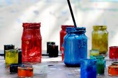 målarfärger arkivfoton
