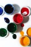 målarfärger Arkivbild