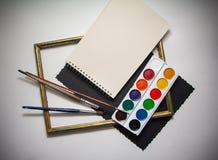 Målarfärger för konstnär` s Royaltyfri Fotografi