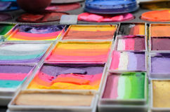 målarfärger ställde in vattenfärg Arkivbild