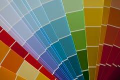 Målarfärgfärgdiagram Arkivfoto