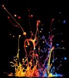 Målarfärgfärgstänk Arkivfoton