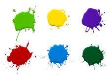 Målarfärgfärgstänk Fotografering för Bildbyråer