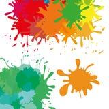 Målarfärgfärgstänkdesign Royaltyfria Bilder
