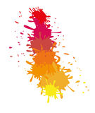 Målarfärgfärgstänkdesign Royaltyfria Foton