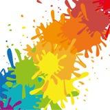 Målarfärgfärgstänkdesign Arkivfoton
