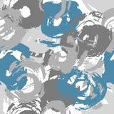 Målarfärgslaglängden cirklar sömlösa den modellgrå färger och krickan vektor illustrationer