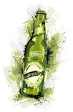 Målat öl Arkivbild