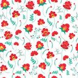 Målat blom- mönstrar Arkivfoto