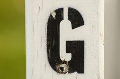 Målat bokstavsG Fotografering för Bildbyråer