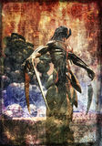 målat demonmonster Arkivbild