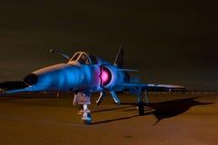 målat flygplan Arkivbild
