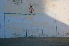 Målat fotbollmål royaltyfria foton