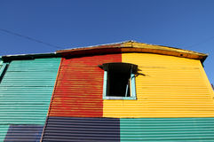 Målat gammalt hus.  Caminito gata, Buenos Aires Royaltyfria Bilder