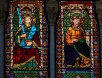 Målat glass - basilika av San Petronio, Bologna Royaltyfria Bilder