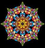Målat glass i form av en blomma Arkivbild
