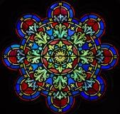Målat glass i kapellet, Bethel College Mennonite Church Royaltyfria Bilder