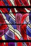 Målat glass i Paris, St Severin Church arkivbild