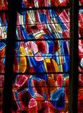 Målat glass i Paris, St Severin Church fotografering för bildbyråer