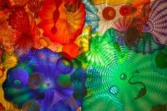 Målat glass på den Chihuly trädgården och exponeringsglas Fotografering för Bildbyråer