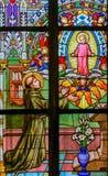 Målat glass - St Anthony av Padua royaltyfri bild