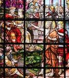 Målat glass - St John det baptistiskt fotografering för bildbyråer