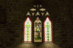 Målat glass St John, Tralee Arkivbilder