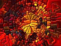 Målat glassabstraktion Arkivfoto