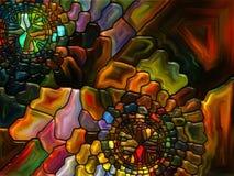 Målat glassabstraktion Arkivbilder