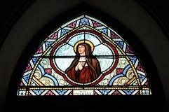 Målat glassfärg Sanktt Mabine Royaltyfria Bilder