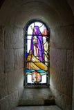 Målat glassfönster Arkivfoto