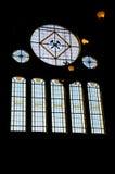Målat glassfönster. Arkivbild