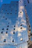 Målat glassfönster av byggnaden Royaltyfri Foto