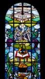 Målat glassfönster av duomoen i Palmanova Royaltyfria Bilder