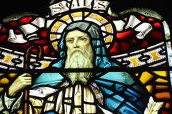 Målat glassfönster i den Glasgow domkyrkan Arkivfoton