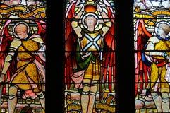 Målat glassfönster i den Glasgow domkyrkan Arkivfoto