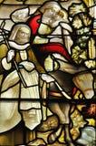 Målat glassfönster i den Glasgow domkyrkan Royaltyfria Bilder